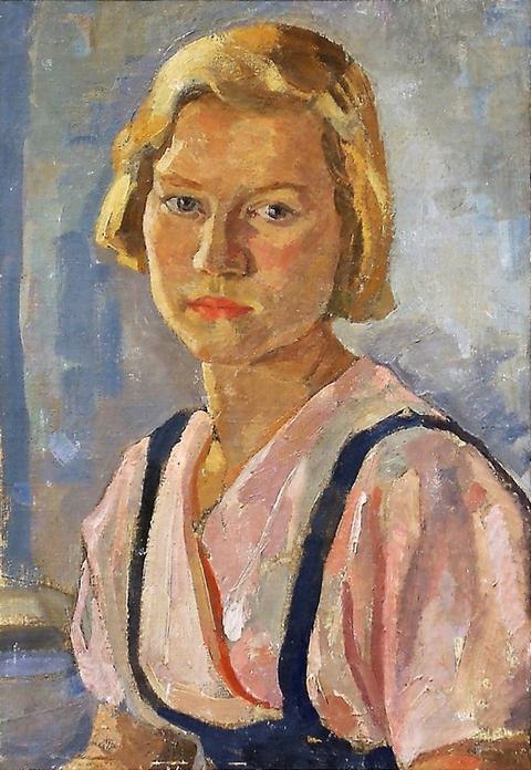 А.С. Шестаков. «Портрет девушки Тамары Мирошкиной». 1938 г.