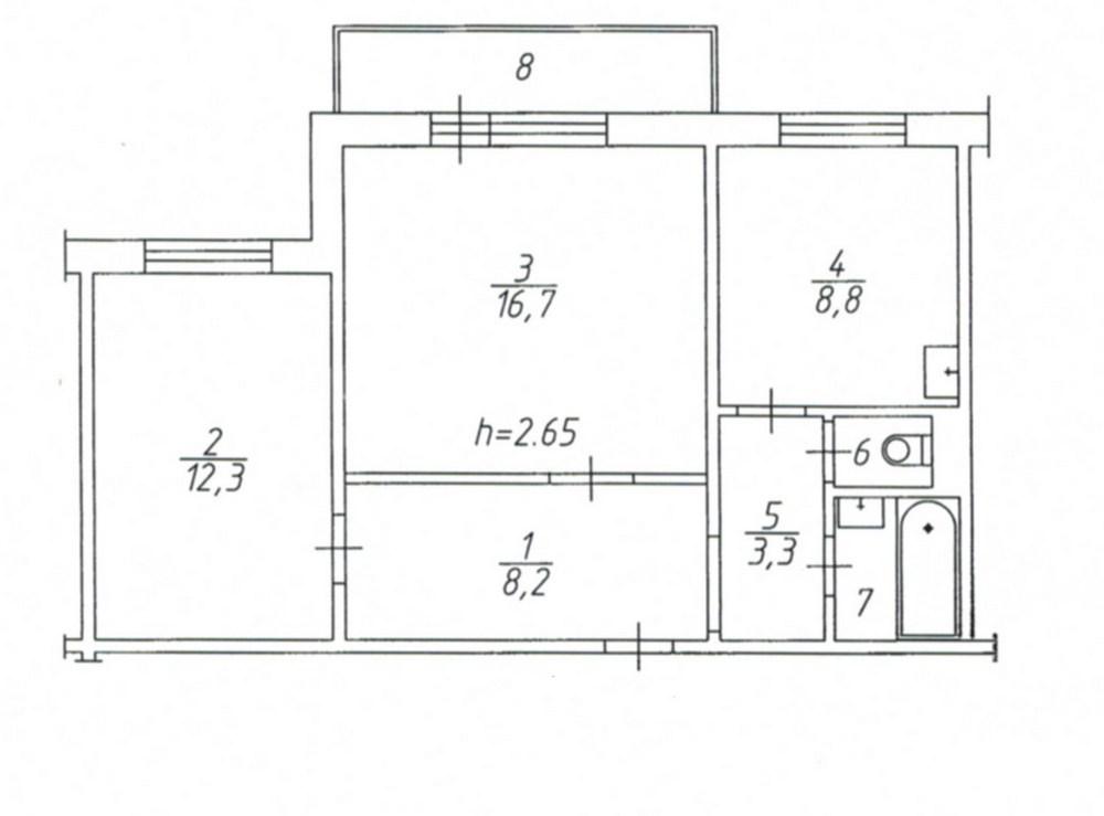 Схема квартир 97 серия